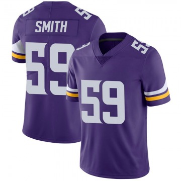 Youth Nike Minnesota Vikings Cameron Smith Purple 100th Vapor Jersey - Limited