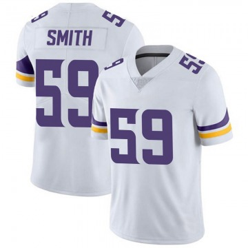 Youth Nike Minnesota Vikings Cameron Smith White Vapor Untouchable Jersey - Limited