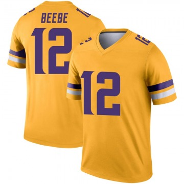 Youth Nike Minnesota Vikings Chad Beebe Gold Inverted Jersey - Legend