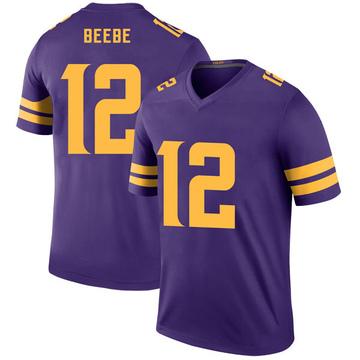 Youth Nike Minnesota Vikings Chad Beebe Purple Color Rush Jersey - Legend