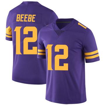 Youth Nike Minnesota Vikings Chad Beebe Purple Color Rush Jersey - Limited