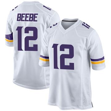 Youth Nike Minnesota Vikings Chad Beebe White Jersey - Game