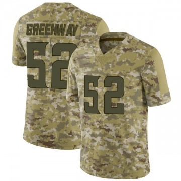 Youth Nike Minnesota Vikings Chad Greenway Green Camo 2018 Salute to Service Jersey - Limited