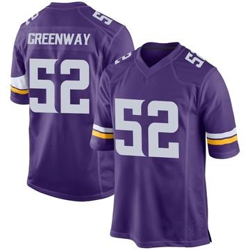 Youth Nike Minnesota Vikings Chad Greenway Purple Team Color Jersey - Game