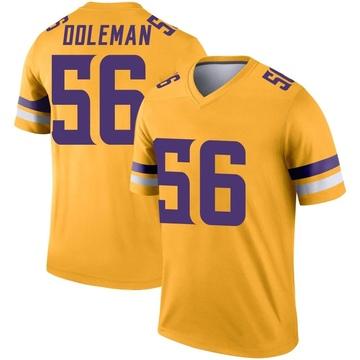Youth Nike Minnesota Vikings Chris Doleman Gold Inverted Jersey - Legend