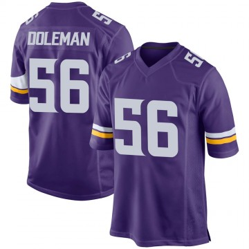 Youth Nike Minnesota Vikings Chris Doleman Purple Team Color Jersey - Game