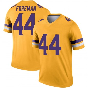 Youth Nike Minnesota Vikings Chuck Foreman Gold Inverted Jersey - Legend