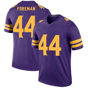 Youth Nike Minnesota Vikings Chuck Foreman Purple Color Rush Jersey - Legend