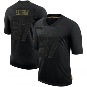 Youth Nike Minnesota Vikings Cornelius Edison Black 2020 Salute To Service Jersey - Limited