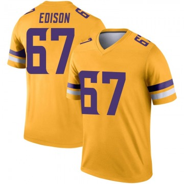 Youth Nike Minnesota Vikings Cornelius Edison Gold Inverted Jersey - Legend