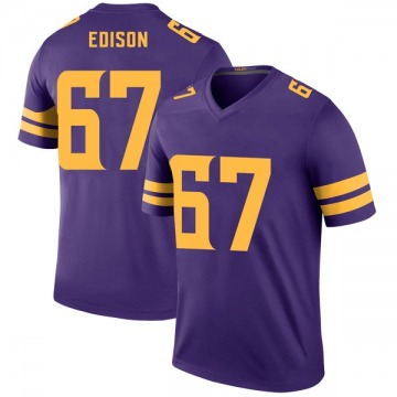 Youth Nike Minnesota Vikings Cornelius Edison Purple Color Rush Jersey - Legend