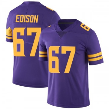 Youth Nike Minnesota Vikings Cornelius Edison Purple Color Rush Jersey - Limited