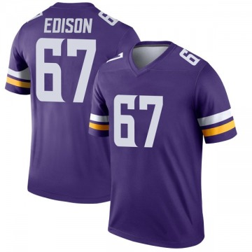 Youth Nike Minnesota Vikings Cornelius Edison Purple Jersey - Legend