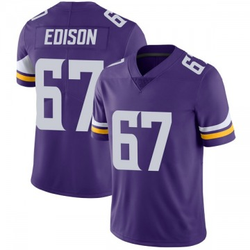 Youth Nike Minnesota Vikings Cornelius Edison Purple Team Color Vapor Untouchable Jersey - Limited