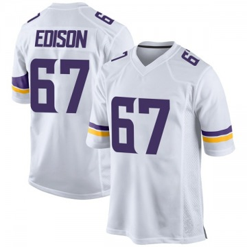 Youth Nike Minnesota Vikings Cornelius Edison White Jersey - Game