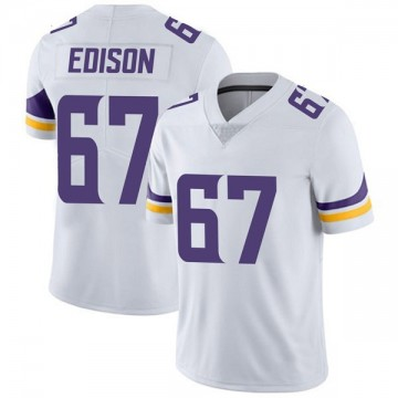 Youth Nike Minnesota Vikings Cornelius Edison White Vapor Untouchable Jersey - Limited