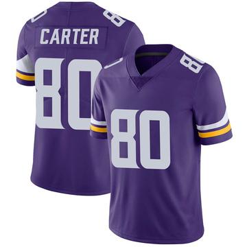 Youth Nike Minnesota Vikings Cris Carter Purple 100th Vapor Jersey - Limited