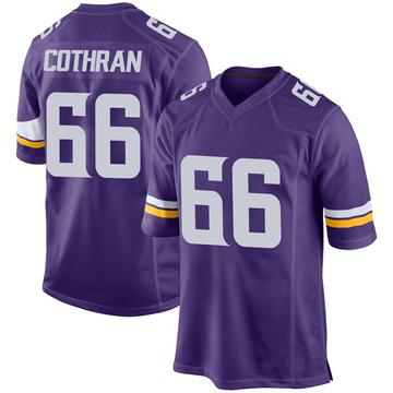 Youth Nike Minnesota Vikings Curtis Cothran Purple Team Color Jersey - Game