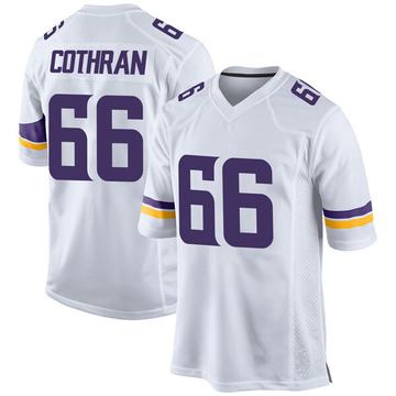 Youth Nike Minnesota Vikings Curtis Cothran White Jersey - Game