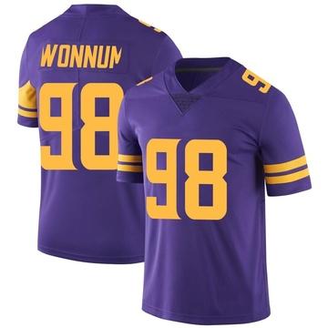 Youth Nike Minnesota Vikings D.J. Wonnum Purple Color Rush Jersey - Limited