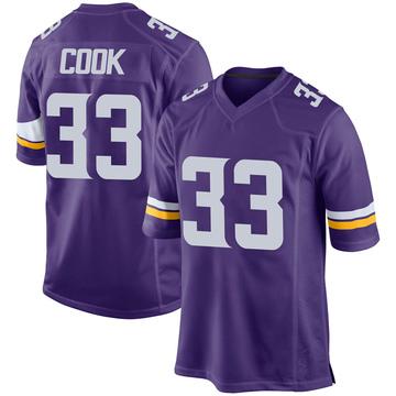 Youth Nike Minnesota Vikings Dalvin Cook Purple Team Color Jersey - Game