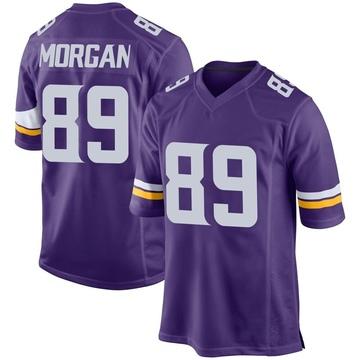 Youth Nike Minnesota Vikings David Morgan Purple Team Color Jersey - Game
