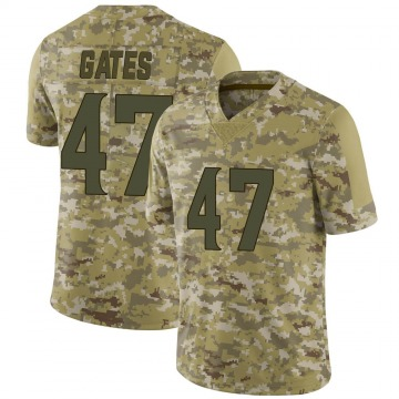 Youth Nike Minnesota Vikings DeMarquis Gates Camo 2018 Salute to Service Jersey - Limited