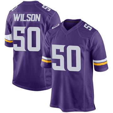 Youth Nike Minnesota Vikings Eric Wilson Purple Team Color Jersey - Game