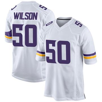 Youth Nike Minnesota Vikings Eric Wilson White Jersey - Game