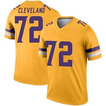 Youth Nike Minnesota Vikings Ezra Cleveland Gold Inverted Jersey - Legend