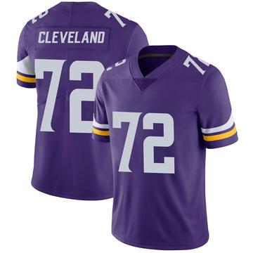 Youth Nike Minnesota Vikings Ezra Cleveland Purple 100th Vapor Jersey - Limited