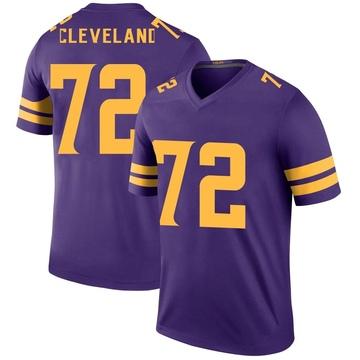 Youth Nike Minnesota Vikings Ezra Cleveland Purple Color Rush Jersey - Legend