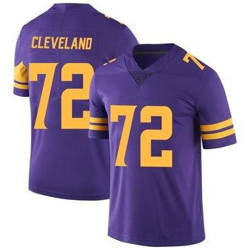 Youth Nike Minnesota Vikings Ezra Cleveland Purple Color Rush Jersey - Limited