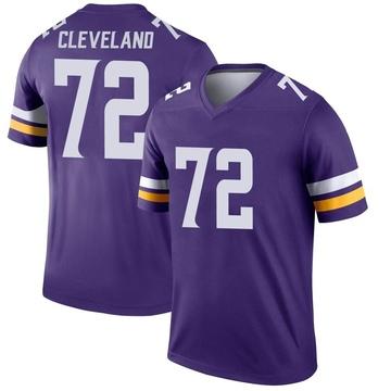 Youth Nike Minnesota Vikings Ezra Cleveland Purple Jersey - Legend