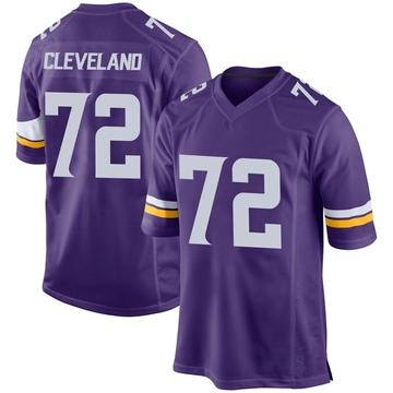 Youth Nike Minnesota Vikings Ezra Cleveland Purple Team Color Jersey - Game