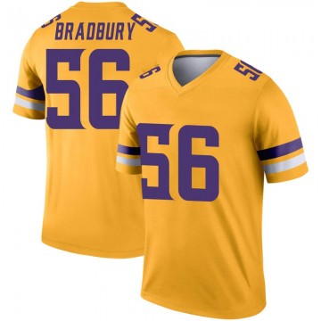 Youth Nike Minnesota Vikings Garrett Bradbury Gold Inverted Jersey - Legend