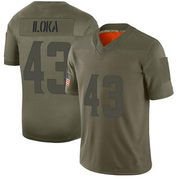 Youth Nike Minnesota Vikings George Iloka Camo 2019 Salute to Service Jersey - Limited