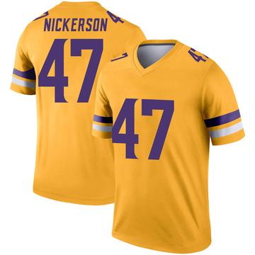 Youth Nike Minnesota Vikings Hardy Nickerson Gold Inverted Jersey - Legend