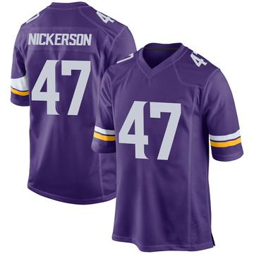 Youth Nike Minnesota Vikings Hardy Nickerson Purple Team Color Jersey - Game