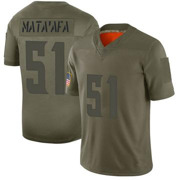 Youth Nike Minnesota Vikings Hercules Mata'afa Camo 2019 Salute to Service Jersey - Limited