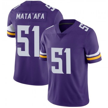 Youth Nike Minnesota Vikings Hercules Mata'afa Purple 100th Vapor Jersey - Limited