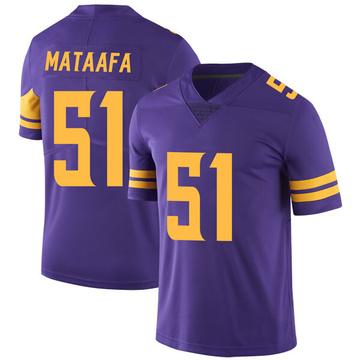 Youth Nike Minnesota Vikings Hercules Mata'afa Purple Color Rush Jersey - Limited