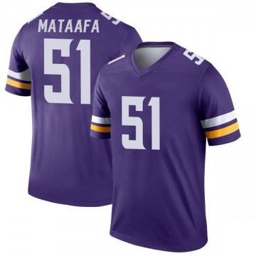Youth Nike Minnesota Vikings Hercules Mata'afa Purple Jersey - Legend