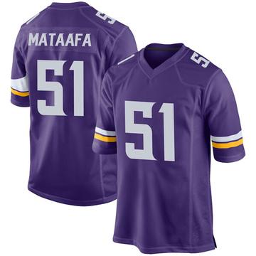 Youth Nike Minnesota Vikings Hercules Mata'afa Purple Team Color Jersey - Game