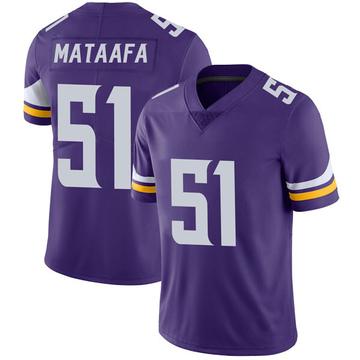 Youth Nike Minnesota Vikings Hercules Mata'afa Purple Team Color Vapor Untouchable Jersey - Limited