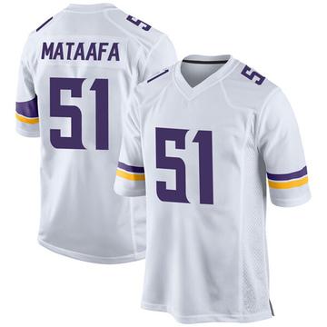 Youth Nike Minnesota Vikings Hercules Mata'afa White Jersey - Game