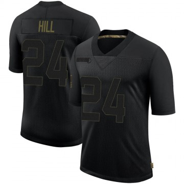 Youth Nike Minnesota Vikings Holton Hill Black 2020 Salute To Service Jersey - Limited