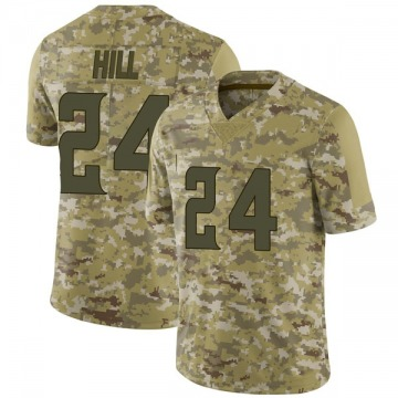 Youth Nike Minnesota Vikings Holton Hill Camo 2018 Salute to Service Jersey - Limited