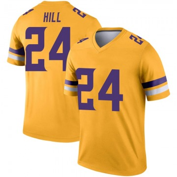 Youth Nike Minnesota Vikings Holton Hill Gold Inverted Jersey - Legend