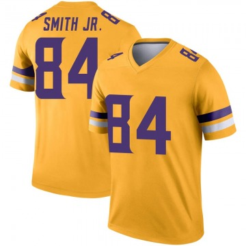 Youth Nike Minnesota Vikings Irv Smith Jr. Gold Inverted Jersey - Legend